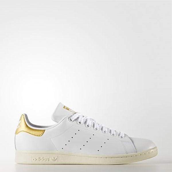 purchase cheap 066e7 815fe Details about New Adidas Original Womens Stan Smith AQ0439 WHITE / GOLD US  W 5.5 - 8.0 TAKSE