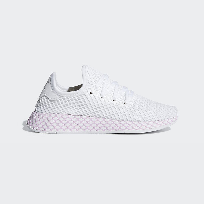 Details about New Adidas Original Womens DEERUPT WHITE / LILAC B37601 US W  5 - 8 TAKSE