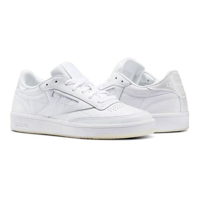 New Womens Reebok CLUB C 85 Leather Pearl WHITE BS5163 US 5.5-11.0 TAKSE