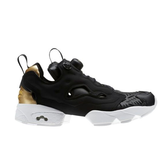 ed687950c5 Details about New Womens Reebok INSTAPUMP FURY Cut Out BLACK / GOLD CM9816  US 5.5 - 11.0 TAKSE