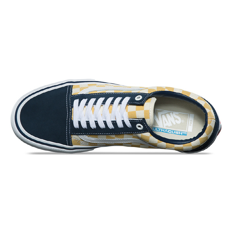 706d2dca30b8 ... Vans OLD SKOOL PRO Checkerboard UltraCush HD VN000ZD4Q40. •Color   YELLOW   NAVY. •Width   Medium. •Condition   New In Box